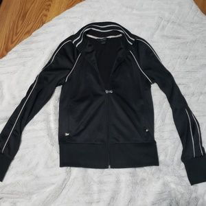 Womens Express black track jacket small